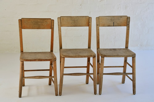 027 Chairs   Small Wooden Vintage